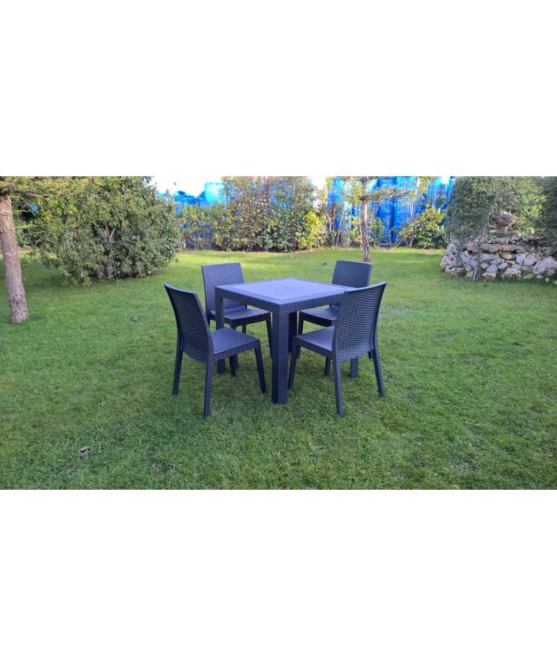 chaise selene anthracite r sine imit tress e banliat. Black Bedroom Furniture Sets. Home Design Ideas