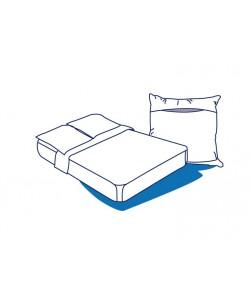 Parure de lit 2 places jetable ECO (2 taies+1 drap housse+ 1 drap plat)