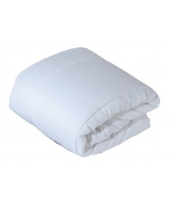Couette blanche microfibre 400gr 240x260cm