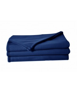 Couverture polaire 100% polyester, 180x220cm MARINE