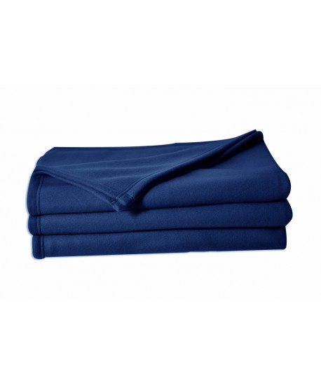 Couverture polaire 100% polyester, 220x240cm MARINE
