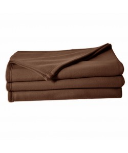Couverture polaire 100% polyester, 180x220cm CHOCOLAT