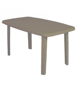 Table Standard Taupe 140x80 résine de synthèse