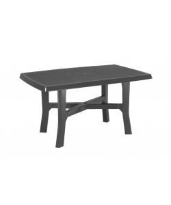 Table Rodano Anthracite 138x88cm résine de synthèse