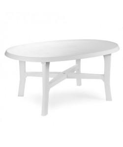 Table Danubio Blanche ovale 165x110cm résine de synthèse