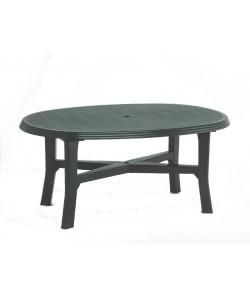 Table Danubio Verte ovale 165x110cm résine de synthèse