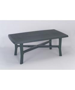 Table Senna Verte 180x100cm résine de synthèse