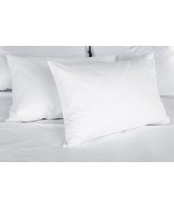 Taie d'oreiller 60x60cm polycoton blanc