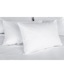 Taie d'oreiller 50x70cm polycoton blanc
