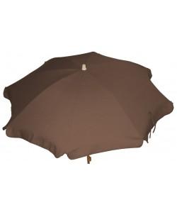 Parasol Ø200cm BANLIAT.COM, taupe foncé mât inclinable