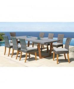 Table Newport avec plateauen fibre de Ciment