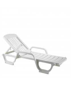 Bain de soleil Miami Blanc, empilable