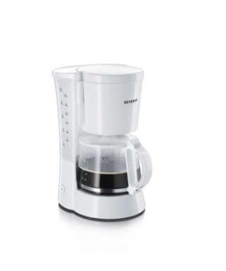 Cafetière électrique 10 Tasses, 800W Blanc