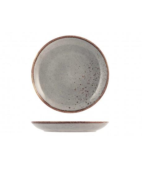 Assiette Plate ø27cm Reactive gris taupe