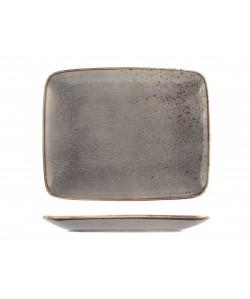 Assiette Rectangulaire 29x23cm Reactive gris taupe