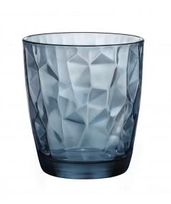 Verre gobelet Diamond forme basse 30cl bleu océan