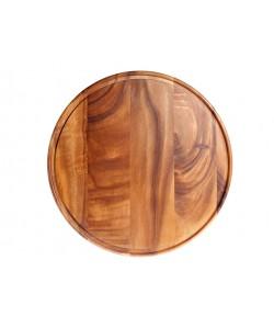 Assiette présentation, plateau à Fromage en bois foncé Ø42cm