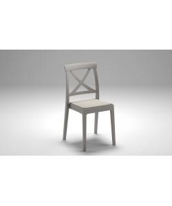 Chaise Artemide Taupe, assise textilène Nougat