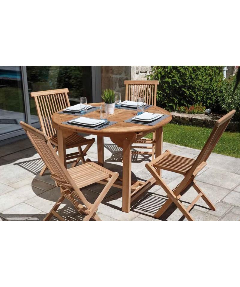 Table octogonale Ø120cm en Teck