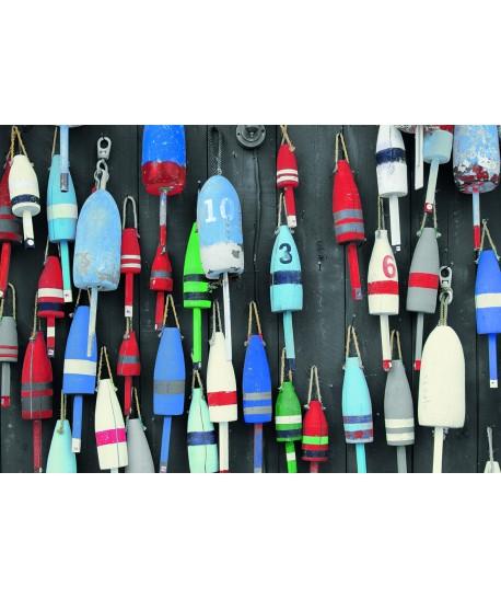 Tableau 120x80 Cabanes Pêcheurs