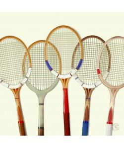 Tableau 100x100cm Tennis Vintage