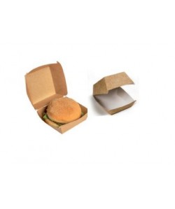 Boite emballage Hamburger 10x10x8cm biodégradable amidon de maïs (carton 6x100 pcs)