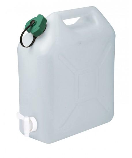 Jerrican avec robinet (alimentaire en polyéthylène blanc)