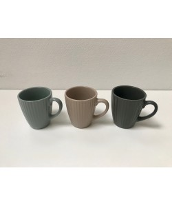 Pack tasse café, thé COTTAGE 21cl 3 coloris assortis