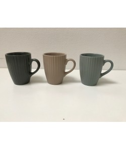 Pack 3 mugs COTTAGE 29.5cl 3 coloris assortis