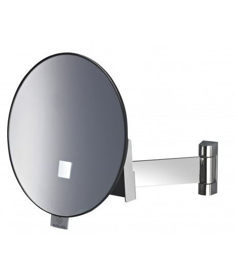 Miroir grossissant lumineux clips rond