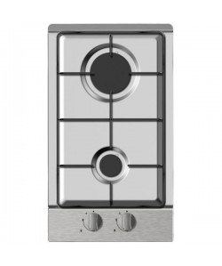 Table de cuisson 2 brûleurs gaz inox
