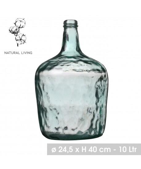 DAME JEANNE 10L en verre recyclé Ø24.5, 40cm Hauteur