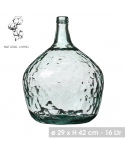 DAME JEANNE 16L en verre recyclé Ø29, 42cm Hauteur