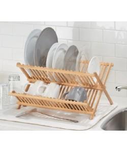 Egouttoir à vaisselle en bois