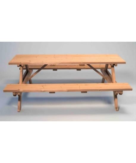 Table de pique nique bois Long 200cm