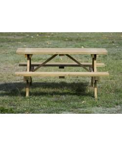Table de pique-nique bois Long 150cm