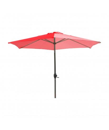 Parasol Séville Ø2.70M Terracotta à manivelle avec mat inclinable